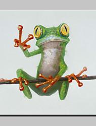 abordables -Peint à la main Animal POP Peintures à l'huile,Moderne Un Panneau Toile Peinture à l'huile Hang-peint For Décoration d'intérieur
