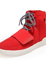 economico -Da uomo-Sneakers-Casual-Comoda-Piatto-Sintetico PU (Poliuretano)-Nero Rosso Grigio
