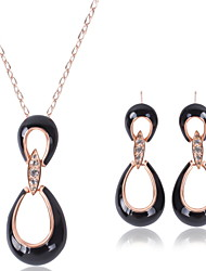 cheap -Women's Hollow Out Jewelry Set - Rhinestone Include Black For Wedding / Party / Necklace