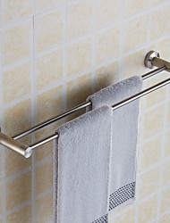 cheap -Creative Wall Mounted Double Towel Bars Stainless Steel Bathroom Bath Towel Rods