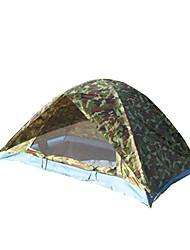Недорогие -2 человека Световой тент Двойная Палатка Однокомнатная Водонепроницаемость Компактность С защитой от ветра Защита от пыли Защита от