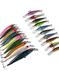 "20 pcs Hard Bait Swimbaits Minnow Fishing Hooks Fishing Lures Hard Bait Minnow Lure Packs Assorted Colors g/Ounce,110 mm/4-1/3"" inch,Hard"