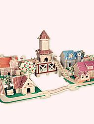 abordables -Puzzles en bois Bâtiment Célèbre / Architecture Chinoise / Maison Niveau professionnel En bois 1pcs Romantique Enfant Garçon Cadeau