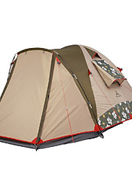 MOBI GARDEN 3-4 persons Tent Triple Camping Tent One Room Family Camping Tents Keep Warm Waterproof Portable Windproof Ultraviolet