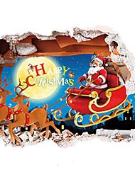 economico -Animali Natale Romanticismo Adesivi murali Adesivi aereo da parete Adesivi decorativi da parete Adesivi foto,Carta MaterialeLavabile