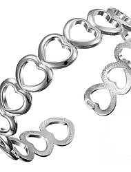 Dámské Kotníkové náramky láska Módní Stříbro Heart Shape Šperky Pro Narozeniny