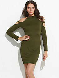 cheap -Women's Sheath Dress - Solid Colored Cut Out / Spring / Fall