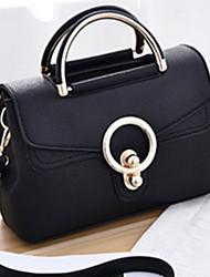 cheap -Women Bags PU Tote Rivet for Formal Outdoor Office & Career All Seasons Gray Purple Wine Dark Red Light Blue