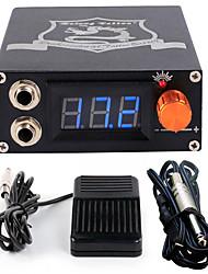 Solong tattoo Aluminum Digital LCD Display Black Color P106-1Tattoo Power SupplyFoot PedalClip Cord
