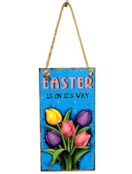 Wooden tulips are listed on the Easter commemorate the resurrection of Jesus household hangs Taiwan tulip pattern