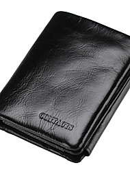 Men Cowhide Sports Casual Office & Career Shopping Wallet All Seasons