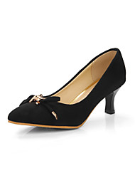 Women's Heels Spring Summer Comfort Leatherette Dress Casual Kitten Heel Buckle Walking