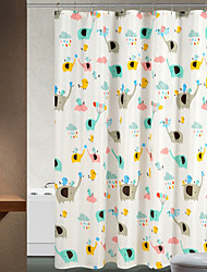 cheap -Shower Curtains Neoclassical Polyester Animal Machine Made