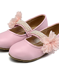 Girls' Flats Comfort Flower Girl Shoes Leatherette Spring Fall Wedding Casual Dress Party & Evening Comfort Flower Girl ShoesBeading