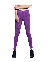 baratos -Mulheres Calças de Corrida - Roxo, Vermelho, Azul Esportes 3/4 calças justas / Leggings Roupas Esportivas Secagem Rápida, Respirável,