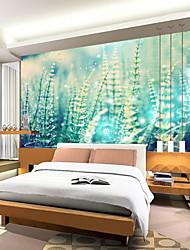 cheap -Floral Art Deco 3D Home Decoration Contemporary Wall Covering, Canvas Material Adhesive required Mural, Room Wallcovering