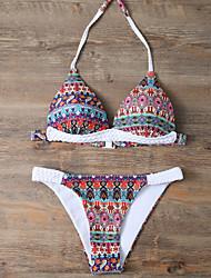cheap -Women's Halter Bikini Print