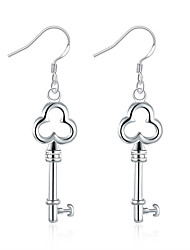 Náušnice - Kruhy Šperky minimalistický styl Měď Postříbřené Šperky Pro Svatební Párty Ležérní 1 pár