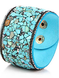 cheap -Women's Bangles Leather Bracelet Bohemian Birthstones Synthetic Gemstones Leather Turquoise Others Jewelry Party Daily Costume Jewelry