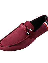 Men's Shoes Fabric Spring Fall Comfort Slouch Boots Loafers & Slip-Ons Walking Shoes Lace-up For Casual Black Red Blue