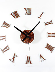 cheap -Modern/Contemporary Retro Acrylic Wood Metal Round Novelty Indoor/Outdoor,AA Wall Clock