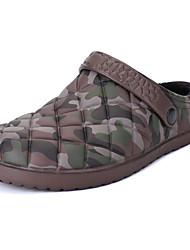 abordables -Homme Chaussures Polyuréthane Hiver Confort Sabot & Mules pour Décontracté Noir Marron foncé Bleu
