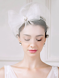 abordables -Tul Perla Artificial Brillante Pluma Tocados Velos Jaula Celada