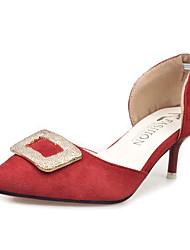 Women's Flats Comfort PU Spring Casual Comfort Flat Heel Black Yellow Light Grey Rose Red Green Flat