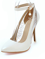 Women's Heels Spring Summer Fall PU Office & Career Casual Party & Evening Stiletto Heel Rhinestone Gold White Black Blushing Pink
