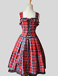 cheap -Princess Sweet Lolita Dress Women's Dress Cosplay Red Sleeveless Knee Length Halloween Costumes