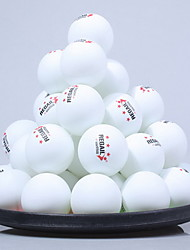 cheap Golf, Badminton & Table Tennis-60pcs 3 Stars Ping Pang/Table Tennis Ball Plastic Low Windage High Strength High Elasticity Durable