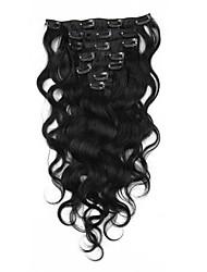 объемная волна зажим в выдвижениях человеческих волос Remy девственницы малайзийский волос соткать клип инов