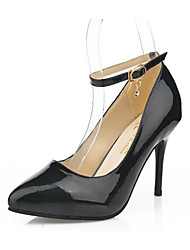 Femme Chaussures à Talons Polyuréthane Printemps Eté Décontracté Talon Aiguille Blanc Noir Rouge 10 à 12 cm