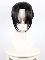 cheap -Women Synthetic Cosplay Wigs Sword Flurry small Karasuma inner fan With black ponytail bangs Heat Friendly Fiber Wig