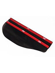 2 pezzi universale flessibili accessori auto pvc specchietto retrovisore pioggia ombra antipioggia lame auto copertura posteriore