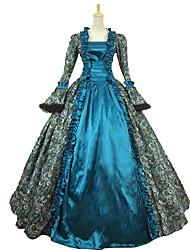 cheap -Steampunk®Victorian Satin Floral Print Period Dress Ball Gown Reenactment Costume