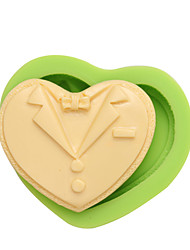 Formal Dress Shape Cavity Heart Shape Silicone Art and Craft Molds For Cake Decorative Color Random