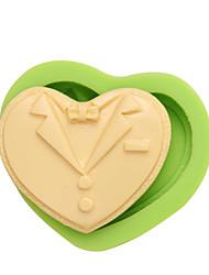 Forme formelle de la forme forme de la cavité forme du coeur art et moules artisanaux pour les couleurs décoratives au gâteau aléatoire
