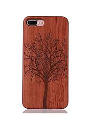 Para Antichoque Com Relevo Estampada Capinha Capa Traseira Capinha Árvore Rígida Madeira para AppleiPhone 7 Plus iPhone 7 iPhone 6s