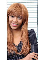 economico -parrucca di capelli eleganti frangia parziali capelli lunghi glamour umani