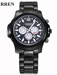 cheap -Men's Quartz Wrist Watch Smartwatch Sport Watch Chinese Calendar / date / day Water Resistant / Water Proof Large Dial Three Time Zones
