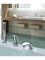 abordables -Robinet de baignoire - Séparé Chrome Diffusion large Mitigeur Trois trous