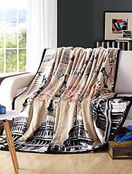 Super Soft Soild Flannel Multicolour Pattern Multi-sized Plush Blanket