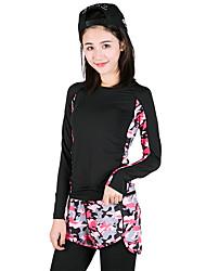 Per donna T-shirt e pantaloni da corsa Manica lunga Asciugatura rapida Traspirante Reggiseni sportivi Set di vestiti Top per Yoga