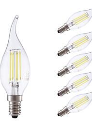 cheap -GMY® 6pcs 3.5 W 400/350 lm E14 LED Filament Bulbs B 4 LED Beads COB Dimmable Warm White / Cold White 220-240 V / 6 pcs / RoHS