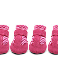 Dog Shoes & Boots Cute Casual/Daily Solid Black Red Blue Pink For Pets