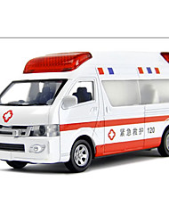 cheap -Die-Cast Vehicles Pull Back Vehicles Police car Ambulance Vehicle Toys Metal Alloy Metal Pieces Boys' Children's Day Gift
