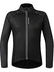 abordables -WOSAWE Maillot de Cyclisme Unisexe Manches Longues Vélo Maillot Veste d'Hiver Hauts/Top Etanche Garder au chaud Pare-vent Doublure Polaire