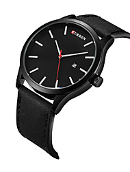 cheap -Men's Wrist watch Dress Watch Fashion Watch Sport Watch Quartz Calendar / date / day Genuine Leather Band Charm Casual Multi-Colored