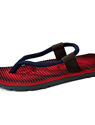 cheap -Men's Slippers & Flip-Flops Spring Summer Microfibre Outdoor Casual Flat Heel Red Blue